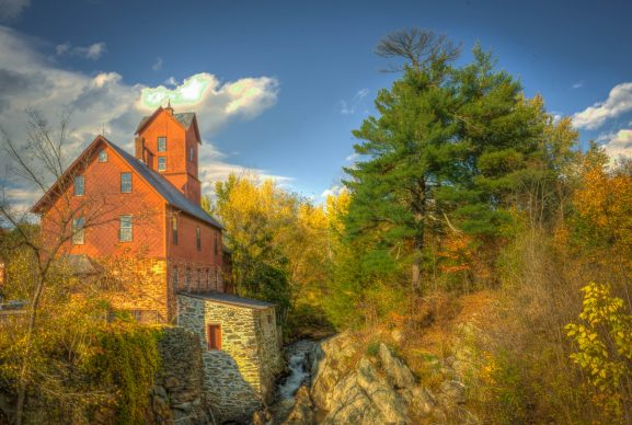 Vermont Old Red Mill In Jericho